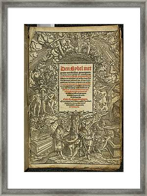Title Page From A Dutch Bible Framed Print by British Library
