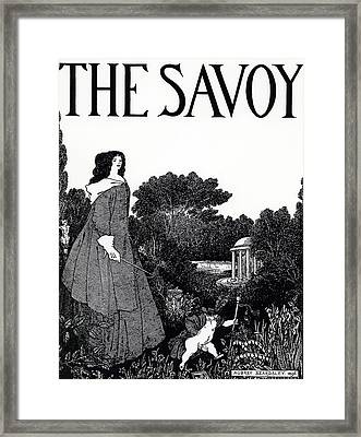 Title Page From The Savoy Framed Print by Aubrey Beardsley