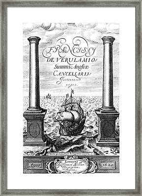 Title Page Of Instauratio Magna Framed Print