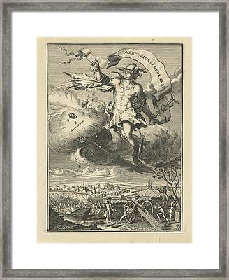 Title Page Of Mercury Or Orator, Coenraad De Putter Framed Print