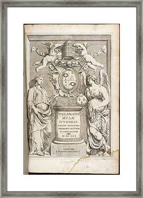 Title Page Of Philomathi Musae Juvenilis Framed Print by British Library