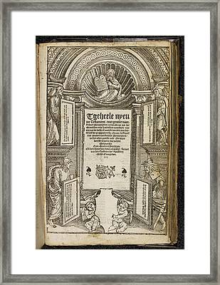 Title Page To The New Testament Framed Print by British Library