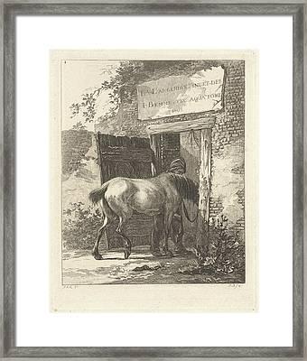 Title Print For Series With Horses, Joannes Bemme Framed Print