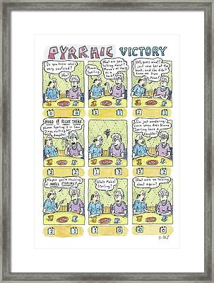 Title Pyrrhic Victory. An Older Couple Framed Print by Roz Chast