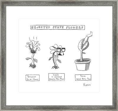 Title: Rejected State Flowers: Tennessee Framed Print