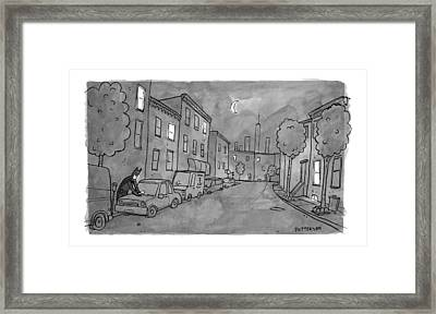 Title: Slow Night Framed Print