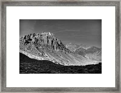 Titus Canyon Peak Framed Print by Peter Tellone