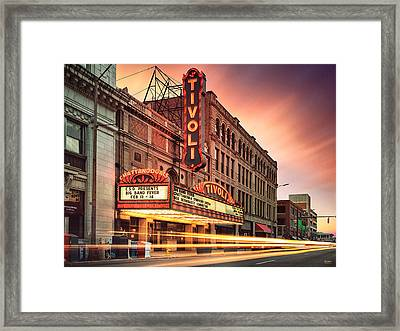 Tivoli Theatre Valentines Day Sunset Framed Print