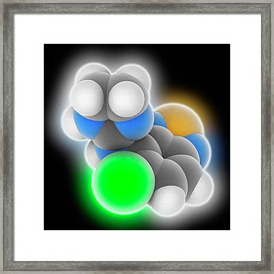 Tizanidine Drug Molecule Framed Print by Laguna Design