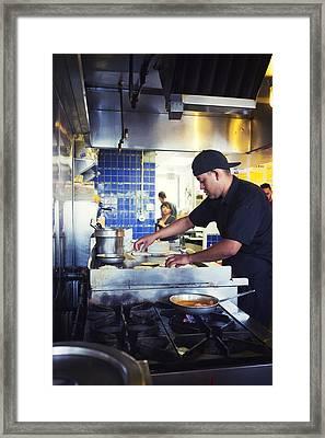 Tj Oyster Bar Framed Print