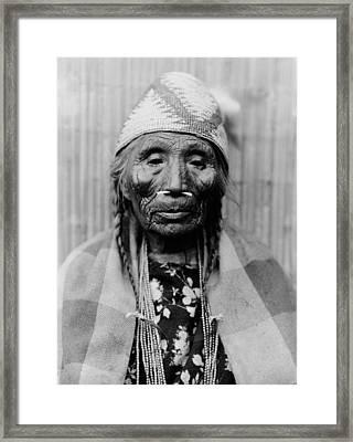 Tlakluit Indian Woman Circa 1910 Framed Print