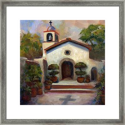 Tlaquepaque Chapel In Sedona Framed Print by Judy Downs