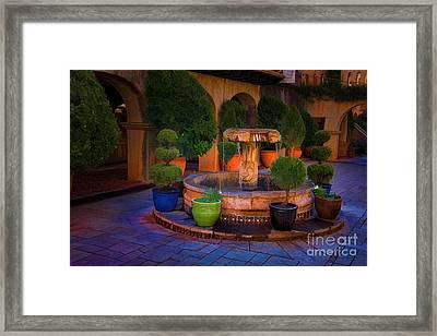 Tlaquepaque Fountain Framed Print by Jon Burch Photography