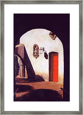 Framed Print featuring the painting Tlaquepaque by Rick Fitzsimons