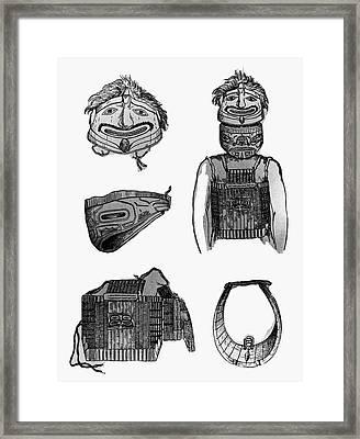 Tlingit Artifacts, C1804 Framed Print by Granger