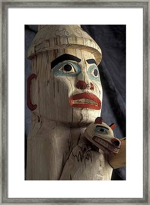 Tlingit Indian *welcoming Totem* Close Framed Print by Chris Arend