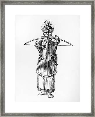 Tlingit Warrior, 1791 Framed Print