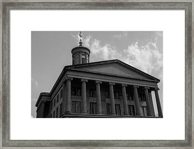Framed Print featuring the photograph Tn State Capitol by Robert Hebert