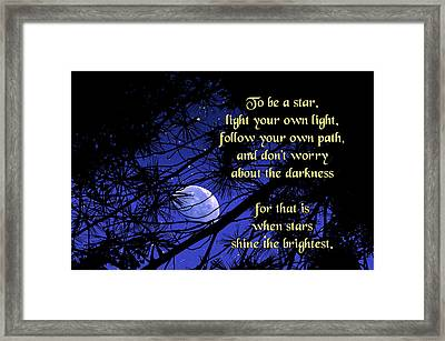 To Be A Star Framed Print by Mike Flynn