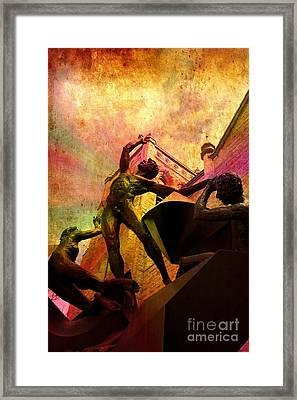 To Be Human Framed Print