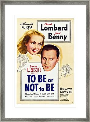 To Be Or Not To Be, Us Poster Art Framed Print by Everett