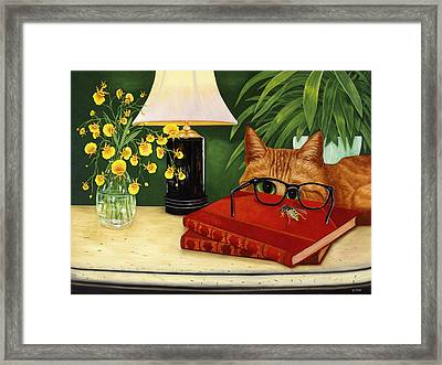 Framed Print featuring the painting To Bee Or Not To Bee by Karen Zuk Rosenblatt
