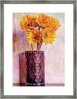 To Brighten Someone's Day Framed Print by Heidi Smith