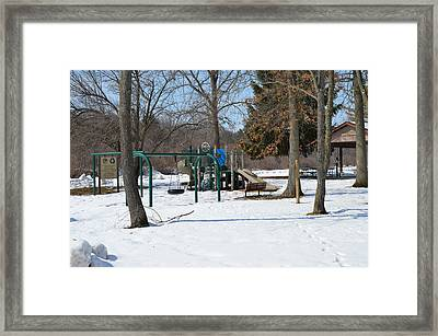 To Cold To Play Framed Print by Cim Paddock
