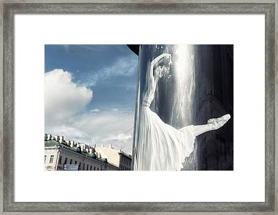 Let's Dance The Clouds Away Framed Print
