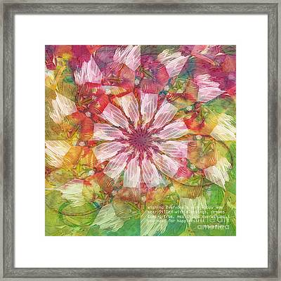 To Everyone Happy New Year Framed Print by Deborah Benoit