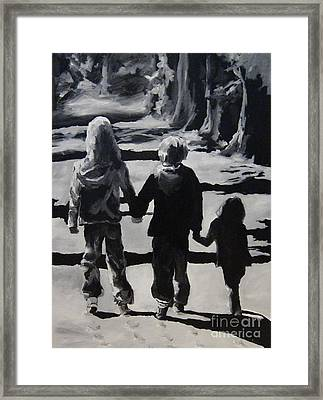 To Grandmothers House Framed Print