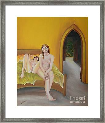 To Have Lain With Aurora Framed Print by Aarron  Laidig