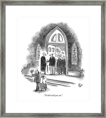 To Hell Framed Print