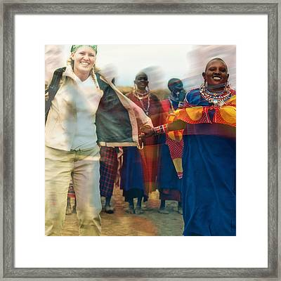 Framed Print featuring the photograph To Hold Hands by Gwyn Newcombe