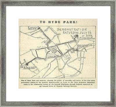 To Hyde Park Framed Print by British Library