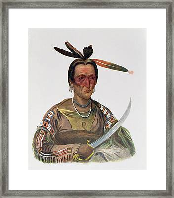 To-ka-cou, A Yankton Sioux Chief, 1837, Illustration From The Indian Tribes Of North America Framed Print