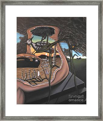 To Kick A Sleeping Dog Framed Print by Mack Galixtar