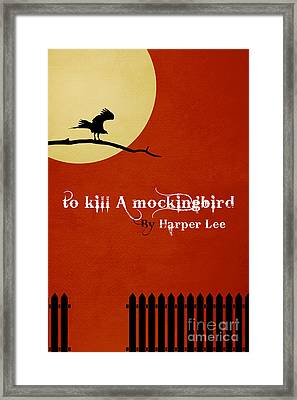 To Kill A Mockingbird Book Cover Movie Poster Art 2 Framed Print