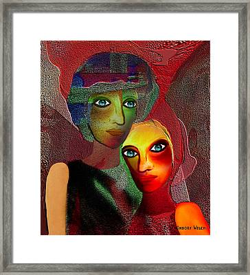 002 - To Lean On    Framed Print by Irmgard Schoendorf Welch