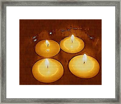 To Light Up The Dark For Peace Framed Print