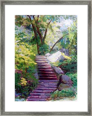 To Linden Terrace-fort Tryon Park Framed Print