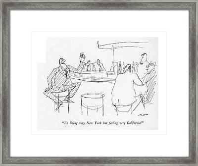 To Living Very New York But Feeling Framed Print by Al Ross