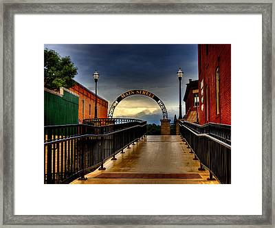 To Main Street Waupaca Framed Print