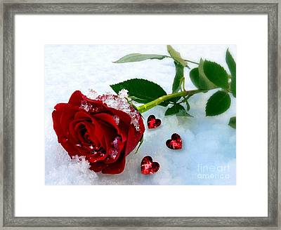 Framed Print featuring the mixed media To Make You Feel My Love by Morag Bates