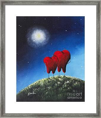 To My Beloved Heart Print By Shawna Erback Framed Print by Shawna Erback