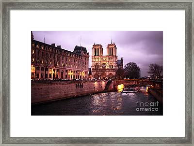 To Notre Dame Framed Print by John Rizzuto