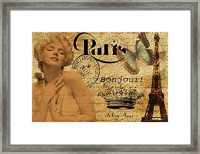 To Paris With Marilyn Framed Print by Greg Sharpe