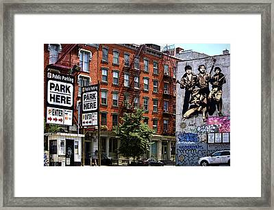 To Park Or Not To Park Framed Print by Joanna Madloch
