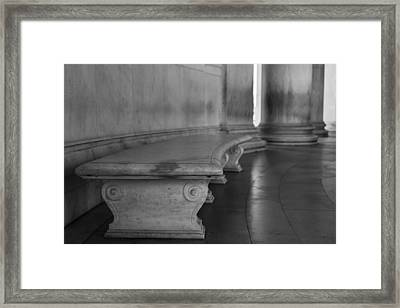 To Quietly Sit And Reflect Framed Print