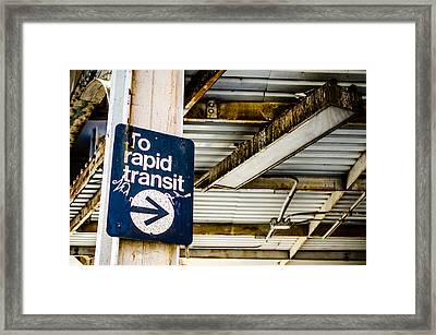 To Rapid Transit Framed Print